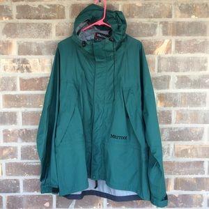 Men's Marmot Waterproof Jacket Large Dark Green